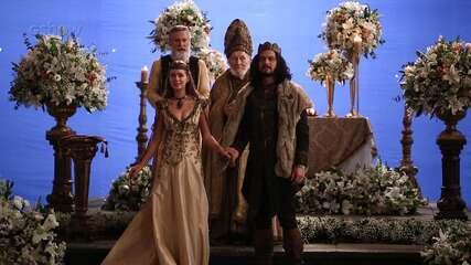 Veja os bastidores do casamento de Afonso e Amália