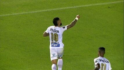 Gol do Santos! Rodrygo faz linda jogada, e Gabriel empata o jogo, aos 33' do 1º tempo