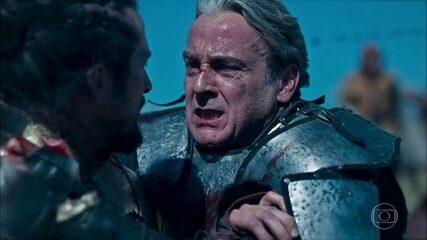 No leito de morte, Otávio faz pedido a Afonso