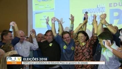 DEM lança candidatura de Eduardo Paes ao governo do estado