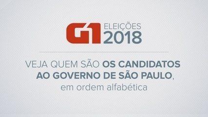 Veja quem são os candidatos ao governo de São Paulo já definidos para as eleições 2018