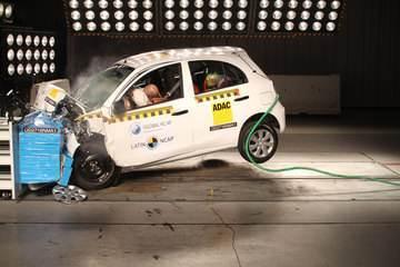 Nissan March leva 1 estrela em teste de colisão do Latin NCap