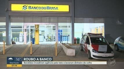 Criminosos invadem agência bancária em Campinas e levam dinheiro