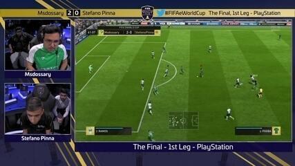 Íntegra do jogo 1, no PS4, de Msdossary 2 x 0 Stefano Pinna pela final do Mundial de Fifa