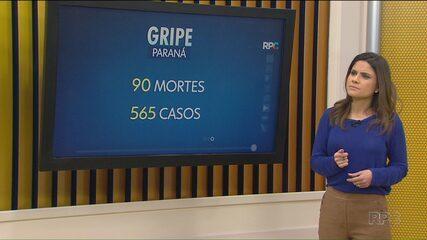 Mais três mortes por gripe foram confirmadas no Paraná