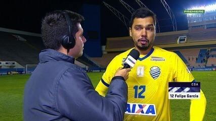 Felipe diz que fez o melhor que pôde após entrar no segundo tempo