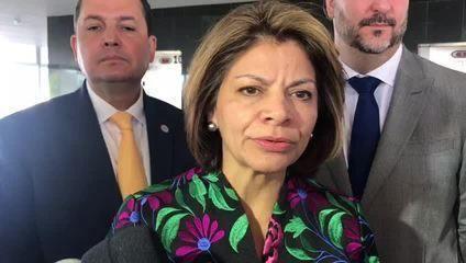 Laura Chinchilla, chefe da missão da Organização dos Estados Americanos (OEA) no Brasil