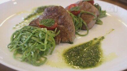 Culinária #013: Aprenda a fazer espaguete de abobrinha com filé mignon