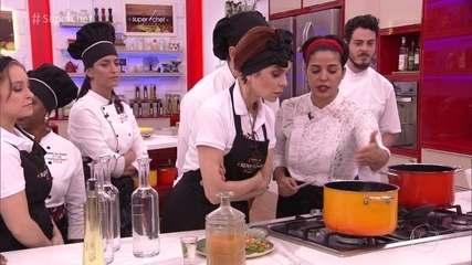 Chef Ana Luiza Trajano dá workshop no 'Super Chef' e prepara pratos deliciosos