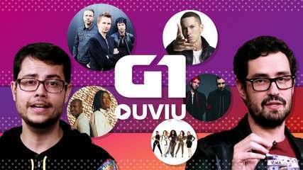 Eminem, Natiruts, Rouge, Muse e 21 Pilots; veja o G1 Ouviu de 31 de agosto.