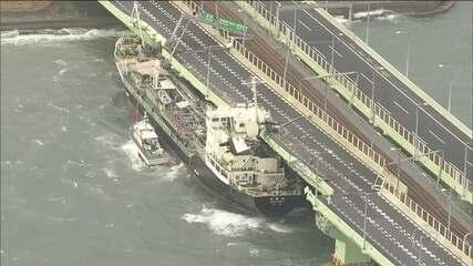 Passagem do Tufão 'Jebi' no Japão deixa 11 mortos e centenas de feridos