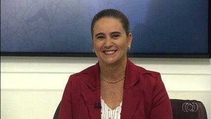 Kátia Maria (PT), candidata ao Governo de Goiás, é entrevistada no JA 1ª Edição