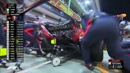 Ricciardo enfim para e Equipe faz melhor tempo da corrida até agora