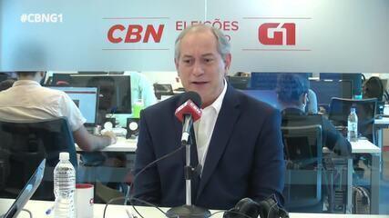 Ciro Gomes (PDT) é entrevistado pelo G1 e pela CBN