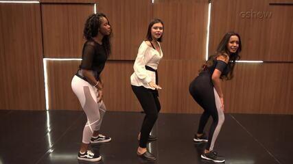 Bailarinas ensinam passinhos de funk