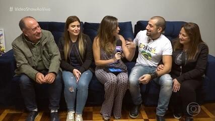 Família do ex-BBB Kaysar chega ao Brasil