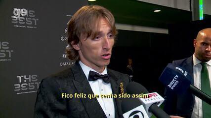Veja o que Modric disse após ser eleito o melhor do mundo