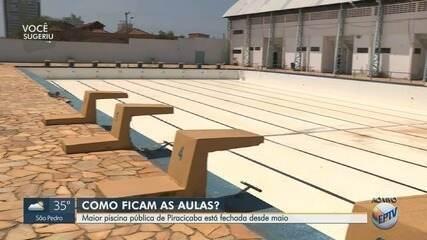 Moradores reclamam de interdição em piscina pública de Piracicaba