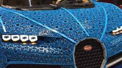 Bugatti Chiron feito de Lego: G1 mostra detalhes em vídeo