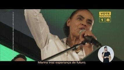 Veja último horário eleitoral da candidata Marina Silva