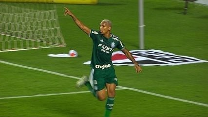 Gol do Palmeiras! Após contra-ataque e bola na trave, Deyverson amplia, aos 37' do 1º t