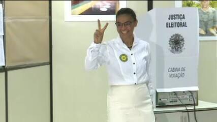 Marina Silva, candidata à Presidência pela Rede, vota no Acre