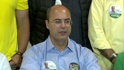 Wilson Witzel dá entrevista após confirmação de resultado do primeiro turno das eleições