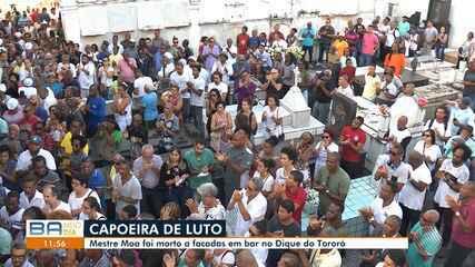 Luto: corpo de capoeirista morto em discussão sobre política é enterrado na capital