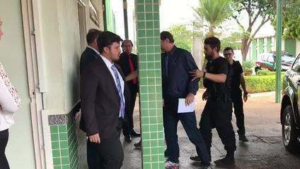 Acir Gurgacz faz exame no IML de Brasília. Crédito: Walter Rocha/TV Globo