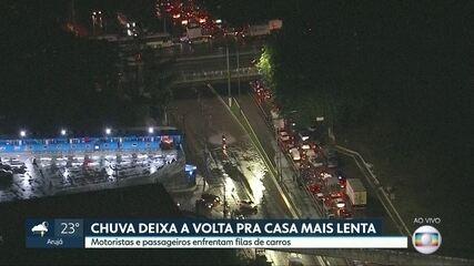 A chuva provocou alagamentos na capital e na grande São Paulo