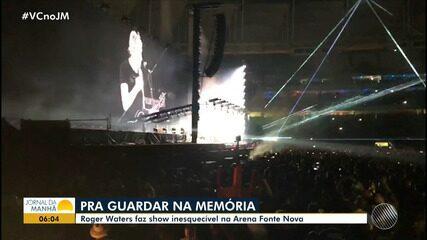 Lenda do rock: Roger Waters faz show para 30 mil pessoas em Salvador