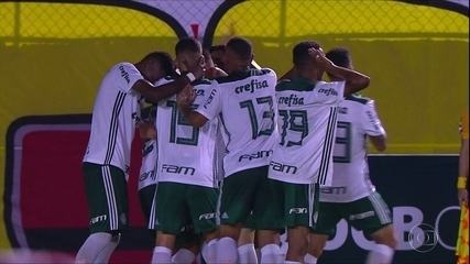 Vitória do Palmeiras e confusão no primeiro jogo da final do sub-20
