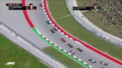 Confira o replay da largada do GP dos Estados Unidos de Fórmula 1