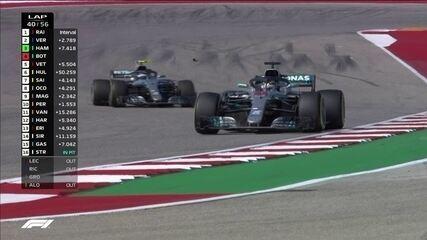Bottas abre passagem e Hamilton assume a terceira posição na corrida