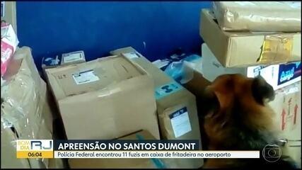 Polícia Federal apreende 11 fuzis no Aeroporto Santos Dumont