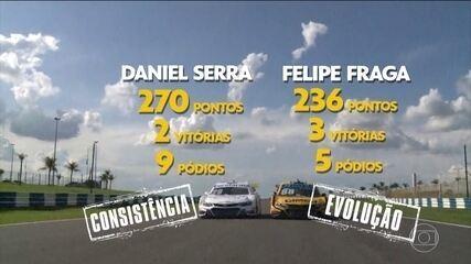 Etapa de Goiânia promete embate entre Daniel Serra e Felipe Fraga pelo título da Stock Car