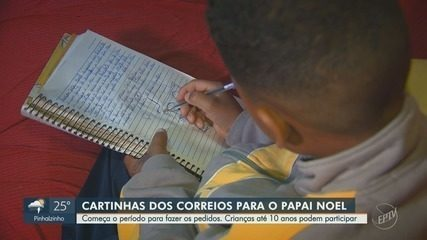 Campanha Papai Noel dos Correios começa nesta terça-feira