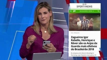 Igor Rabel lo e Réver são os anjos da guarda de Botafogo e Flamengo no Brasileirão