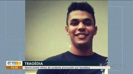 Jovem morre após ser vítima de acidente provocado por criminosos