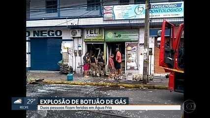 Vazamento de gás causa explosão e deixa dois feridos na Zona Norte do Recife