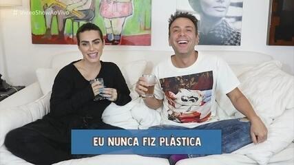 """Cleo brinca de """"Eu Nunca"""" com Matheus Mazzafera"""