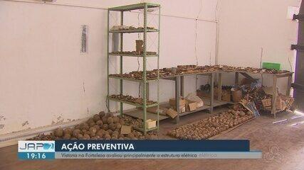 Vistoria encontra ossada humana abandonada na Fortaleza São José de Macapá