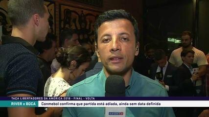 Repórter fala de problemas que adiamento da final da Libertadores pode causar