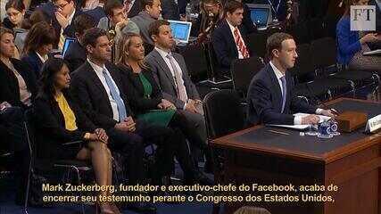 Veja os principais pontos do depoimento de Mark Zuckerberg