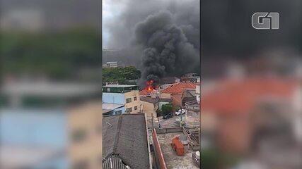 Avião cai em casas na Zona Norte de São Paulo