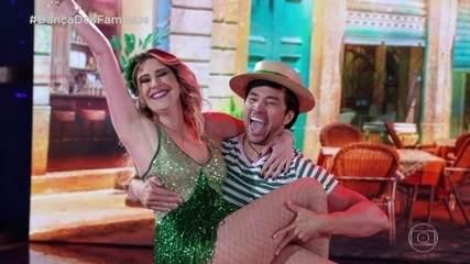 Dani Calabresa e Reginaldo Sama se apresentam com o ritmo Samba