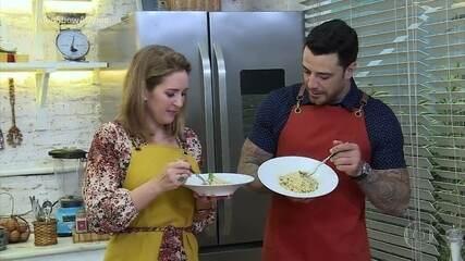 Felipe Titto e Renata Capucci preparam autêntico risoto italiano