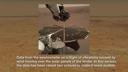Missão da Nasa em Marte capta áudio do vento no planeta pela primeira vez