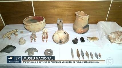 Governo da Alemanha faz parceria para ajudar na recuperação do Museu Nacional