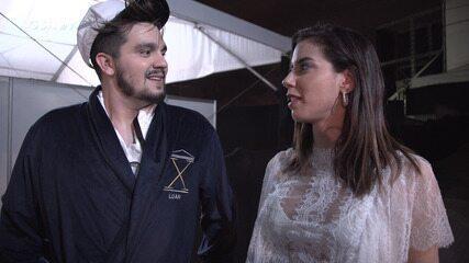 Camila Coutinho conversa com Luan Santana antes do Show Da Virada